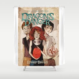 Dragon's Danger Cover Shower Curtain