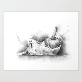 The Undead Candy Apple Art Print