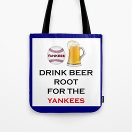 Yankees Team Gifts and Beer, Baseball Team, Sports Fan Clothes Tote Bag