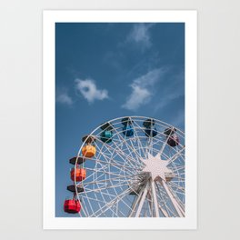 Colourful Ferry Wheel Art Print