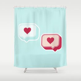 Heart Chats Shower Curtain