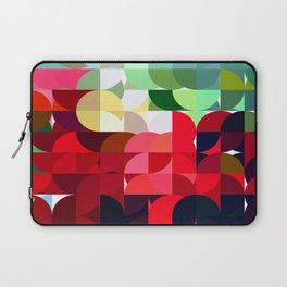 Mixed color Poinsettias 3 Abstract Circles 1 Laptop Sleeve