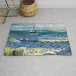 Seascape near Les Saintes-Maries-de-la-Mer by Vincent van Gogh Rug
