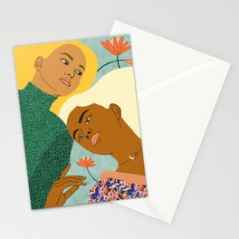 Two Souls One Body ||  #painting #illustration Stationery Cards