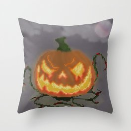 Evil Jack O' Lantern Throw Pillow
