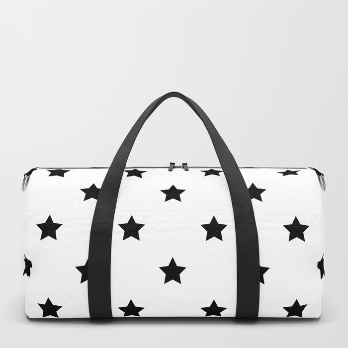 Black and white Star Pattern Duffle Bag