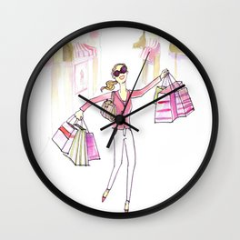 Shopping Spree Wall Clock