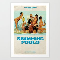 Swimming Pools Art Print