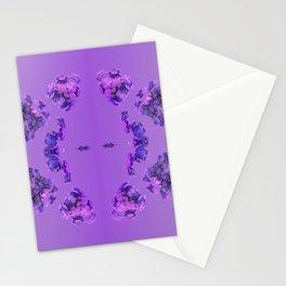 Flower Buds Violet Stationery Cards