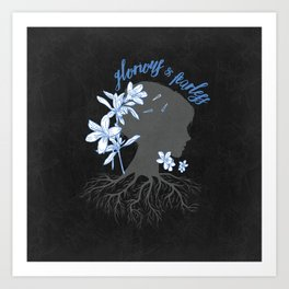 Blue, Fanciful - The Raven Cycle Art Print