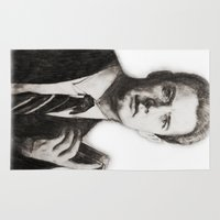 dale cooper Area & Throw Rugs featuring TWIN PEAKS - AGENT COOPER by William Wong