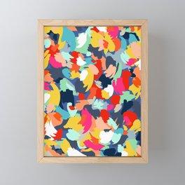 Confetti Brush Strokes Framed Mini Art Print