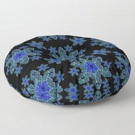 Snowflake Floral Floor Pillow