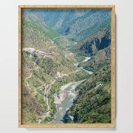Bhutan: Dangme chu river Serving Tray