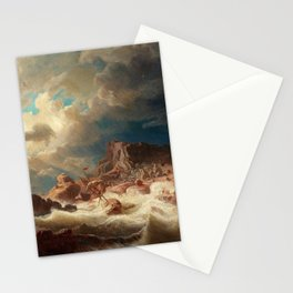 Marcus Larson - Stormy Sea With Ship Wreck Stationery Cards