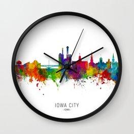 Iowa City Iowa Skyline Wall Clock