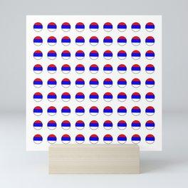 flag of Serbia 3-balkan,serbian,europe,yugoslavia, Pannonian,Belgrade,Novi Sad,nis,kragujevac Mini Art Print
