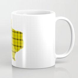 Texas State Shape: Yellow Coffee Mug