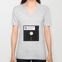 The Internet Floppy Disk Unisex V-Neck