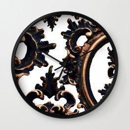 Frames on White. Wall Clock