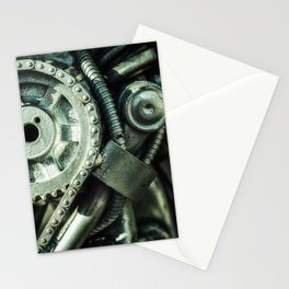 Machine Part BNW Abstract II Art Stationery Cards