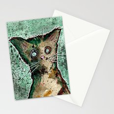 Turtle the turtle shell zombie kitten Stationery Cards