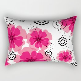 PEPPER POPPIES | fuschia Rectangular Pillow