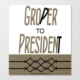 Groper To President Canvas Print