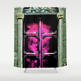 Mission window - Greece - Jeanpaul Ferro Shower Curtain