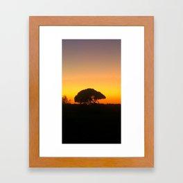 Mel's tree Framed Art Print
