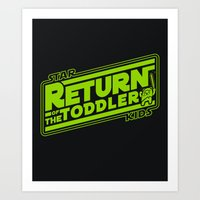 toddler Art Prints featuring Star Kids: Return of the Toddler by Barn Bocock
