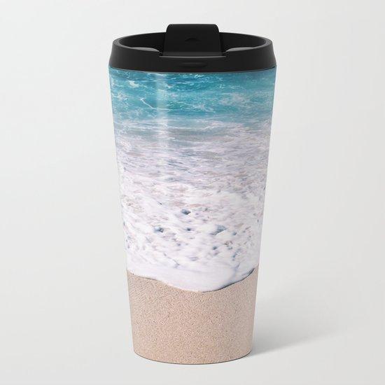 Beach Shore  Metal Travel Mug
