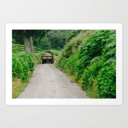 Le tracteur (Azores) Art Print