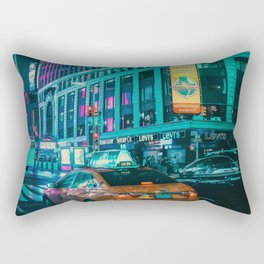 Taxi in the City (Color) Rectangular Pillow
