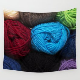Knitting Bag One Wall Tapestry
