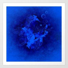 Fish Illustration (Goldfish) Art Print