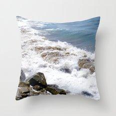 The Rocky Shores of San Pedro Throw Pillow