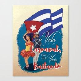 Cuban Carnaval Dancing Canvas Print