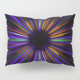 Purple and orange light trails starburst Pillow Sham