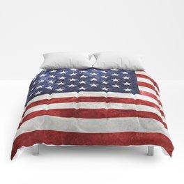 Acrylic Grunge Flag - USA Comforters