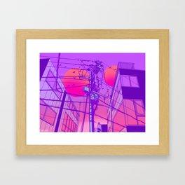Anime Wires Framed Art Print