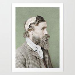Robert McGee Scalping Survivor c.1890 - Colourised Art Print