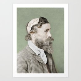 Robert McGee Scalping Survivor c.1890 - Colourised Art Print