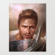 Alistair Sparring Canvas Print