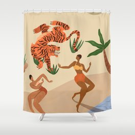 Dancing with Tiger Shower Curtain
