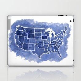 Watercolor Map of America Laptop & iPad Skin