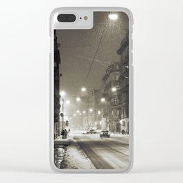 Winter Time Clear iPhone Case