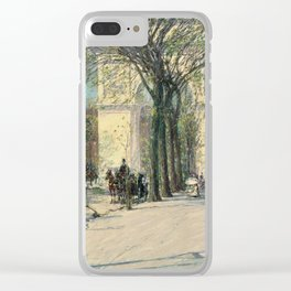 Childe Hassam - Washington Arch, Spring Clear iPhone Case
