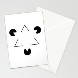 Kanizsa triangle Stationery Cards