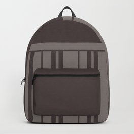 MUSHROOM STRIPE WITH BROWN GREY PLAIN COLOR Backpack